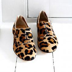 Leopard Brogues...so fresh!!