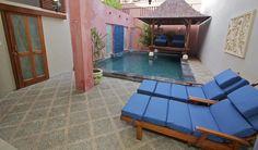 Kuta Regency villa B3. View by the pool.