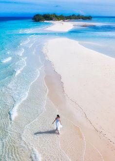 Beach at Mataking Island in Sabah, Malaysia