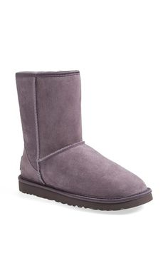 UGG® Australia 'Classic Short - Crystal Bow' Water Resistant Suede Boot (Women) available at #Nordstrom