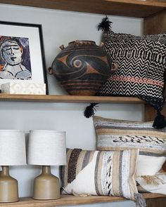 Afternoons at Art by Crystofer Shoemaker Chinese Hand Painted Terra Cotta Table Lamps by Pillows Open Wed - Sun Terra Cotta, Table Lamps, Chinese, Hand Painted, Throw Pillows, Sun, Painting, Instagram, Home