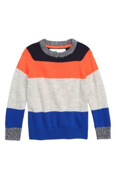 179f0032f2bd Mini Boden Stripe Sweater (Toddler Boys, Little Boys & Big Boys) | Nordstrom