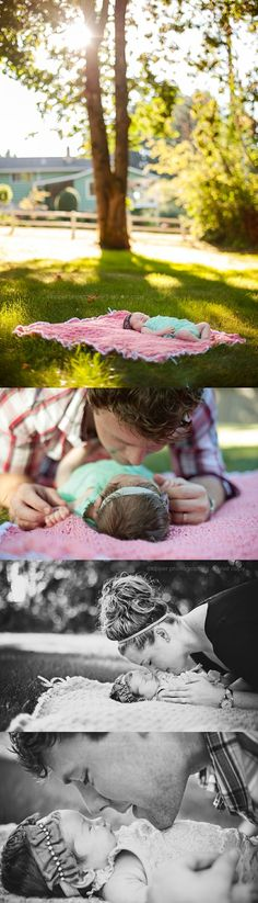 outdoor newborn lifestyle photography - perfection