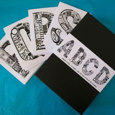 Set of 26 London Letters Greetings Cards by LucyLovesThis on Etsy, £35.00
