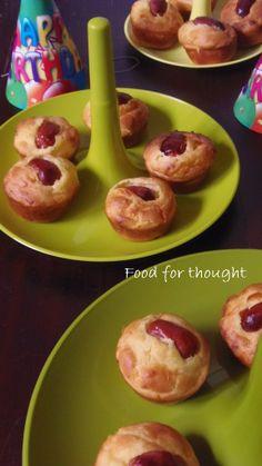 Λουκανικοπιτάκια muffins http://laxtaristessyntages.blogspot.gr/2013/01/muffins.html
