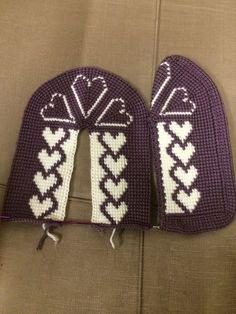 yok - Her Crochet Gestrickte Booties, Knitted Booties, Knitted Slippers, Knitted Poncho, Knitted Hats, Crochet Baby Sandals, Crochet Shoes, Kids Knitting Patterns, Crochet Patterns
