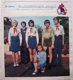 socialist Czechoslovakia's Pionýr organization for youth Girl Scout Uniform, Girl Guides, Socialism, Girl Scouts, Nasa, Vintage Photos, The Past, Youth, Organization