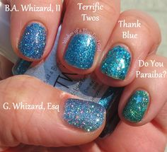 Wishes of a Blue-Eyed Girl: Comparison Thursday G. Whizard, Esq, B.A. Whizard, II, Thank Blue, and Do You Paraiba?