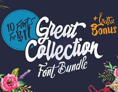 """Check out new work on my @Behance portfolio: """"Collection of 10 Unique Fonts"""" http://be.net/gallery/37166649/Collection-of-10-Unique-Fonts"""