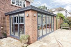 brick Garden room Full length brickwork and glazing vies this garden room a sturdy structure RAL 2015