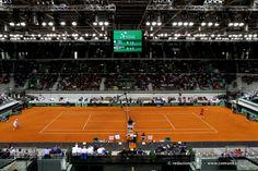 #Tennis - Il Palavela durante il primo incontro di Davis #Torino