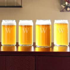 Beer Can Glasses: a groomsman gift idea that hasn't been done a thousand times before.