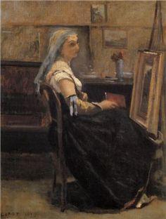 The Artist's Studio - Camille Corot