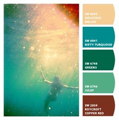 retro mermaid color palette