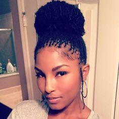 New Black Hairstyles 2016 Low Ponytail Hairstyles, Black Women Short Hairstyles, Afro Hairstyles, Braid Ponytail, Everyday Hairstyles, Sisterlocks, Scene Hair, Flat Twist, Twist Outs