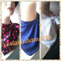 costurinhamarke: lenços de pescoço.