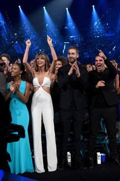 Pin for Later: All the Times Taylor Swift and Calvin Harris Nailed Date-Night Style When They Proved Opposites Attract at the Billboard Music Awards Black and white and seriously chic.