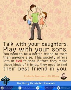 Islamic Quotes about Daughters-The Blessings of Daughters in Islam - Parenting Islamic Quotes, Islamic Teachings, Islamic Inspirational Quotes, Religious Quotes, Quran Quotes, Hindi Quotes, Hadith Quotes, Parenting Quotes, Parenting Tips