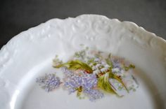 Antique Dessert Salad Plates Lilacs Lily by SongSparrowTreasures