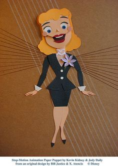 Stop-Motion Paper Puppet - Boogie Woogie Girl by Miehana, via Flickr
