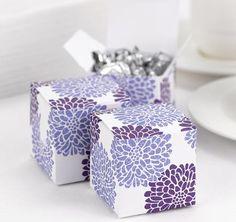 Grapevine Floral Favor Boxes