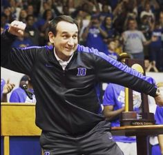 Coach is excited about the # 1 finish for 2015 and the new recruiting class! Duke Bball, Duke Basketball Coach, Basketball Schedule, Football And Basketball, Basketball Stuff, Coach K, Duke Blue Devils, Duke University, Knee Injury