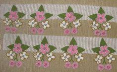 çiçekli havlu kenarı örnekleri modelleri