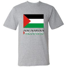 The #Palestinian Flag is featured here, with the word or name #PALESTINE below in the colours or colors of the flag. $24.99 ink.flagnation.com Another original design from Auntie Shoe.
