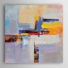 Peint à la main Abstrait Carré,Moderne Un Panneau Toile Peinture à l'huile Hang-peint For Décoration d'intérieur de 5725940 2017 à €70.55