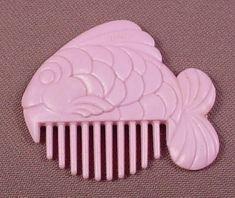 My Little Pony G1 Light Purple Fish Comb, Hasbro, Seasparkle, Baby Sea Ponies