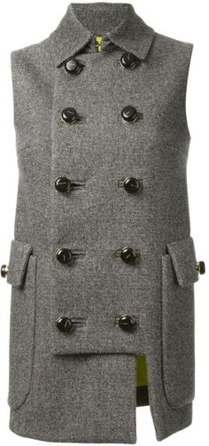 Love this: D SQUARED2 Double Breasted Sleeveless Coat @Lyst