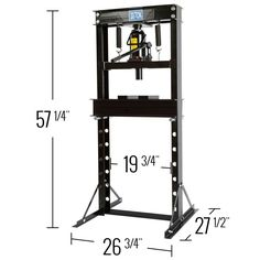 The 20 Ton Hydraulic Shop Press is perfect for the home mechanic or small repair business, making repairs, replacements, and modifications faster and easier.