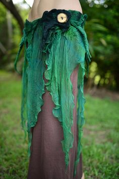 Nuno Felted Melted Pixie Woodland Nymph Forest Fairy by frixiegirl