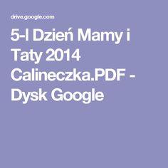 5-l Dzień Mamy i Taty 2014 Calineczka.PDF - Dysk Google Google, Popular, Popular Pins, Most Popular