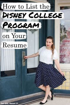Struggling on how to list your Disney College Program on your resume? This post breaks down how to write it with examples and bonus tips! College Club, College Hacks, College Life, College Girls, College Survival Guide, Disney College Program, Programming, The Twenties, Resume
