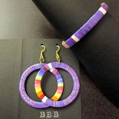 Quill Bracelet and Earrings Set - Periwinkle by Beyond Buckskin Boutique