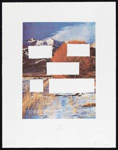 Edward Ruscha, 'Do As Told or Suffer (Country Cityscapes series)' 2001
