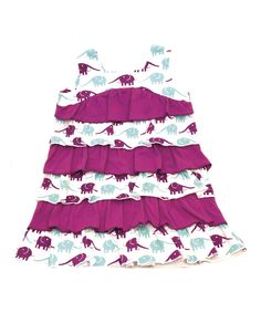 Purple Elephant Organic A-Line Dress - Infant, Toddler & Girls | zulily