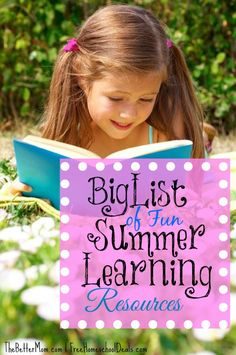 BIG List of Fun Summer Learning Resources {science, reading, activities + more!}