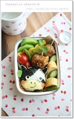asamiのお弁当。簡単かわいいキャラ弁の作り方 - I want to try this with CuteZcute 'Cutter
