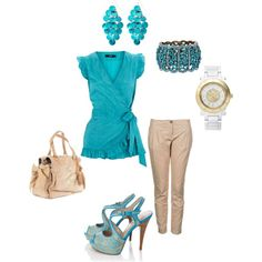 casual church work wear, Polyvore