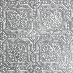 Paintable Wallpaper  Ornate Tile For The Ceiling