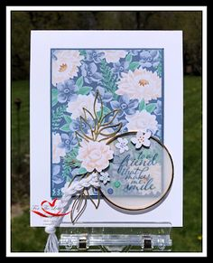 Flowers for Every Season - Memories & More Card Pack Flower Stamp, Flower Cards, Cards For Friends, Friend Cards, Stampin Up Catalog, Die Cut Cards, Stamping Up Cards, Little Flowers, I Card