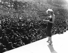 Marilyn Monroe performing for the troops in Korea, February 1954. Description from pinterest.com. I searched for this on bing.com/images