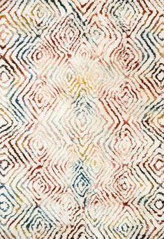 Loloi Folklore Ivory/Prism Area Rug-Designed by the vibrant bohemian designer and New York Times best-selling author, Justina Blakeney, the Folklore Collection is an artful expression of her wild and colorful style. Hand-tufted in India of wool Justina Blakeney, Carpet Trends, Carpet Ideas, Moroccan Pattern, Best Carpet, Carpet Types, Magic Carpet, Wall Carpet, Carpet Stairs