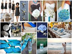 black white and blue : PANTONE WEDDING Styleboard : The Dessy Group