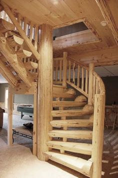 Image result for log cabin stairs