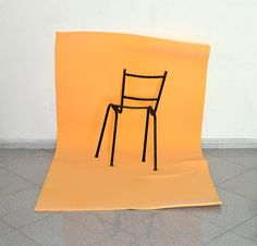Untitled (Skinless Chair), 2014, chair, enamel, polyurethane foam, variable dimensions