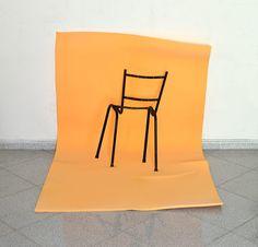 Untitled (Skinless Chair), 2014, chair, enamel, polyurethane foam, variable dimensions