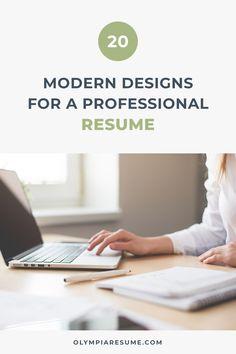 Professional Resume Templates / CV Templates by OlympiaResume Creative Cv Template, Modern Resume Template, Cv Design, Resume Design, Create A Resume, Thing 1, Resume Tips, Marketing Jobs, Professional Resume